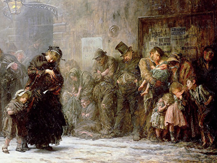 Applicants to a Casual Ward by Luke Fildes (1874)